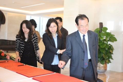 签到处——浙江省建设工程造价管理协会会长沈联民